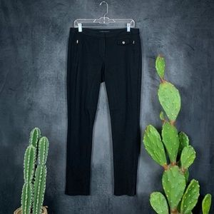 🌵 Theory Black Stretch Ankle Zip Moto Pants 8